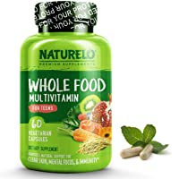 NATURELO Whole Food Multivitamin for Teens - Natural Vitamins & Minerals for Teenage...
