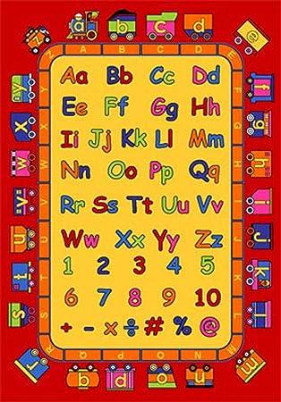 Amazon.com: Kids ABC Educational 7x10 Area Rug Alphabet & Numbers ...