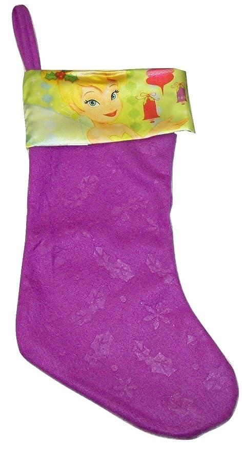 Tinkerbell Christmas Decorations Uk.Disney Fairies Tinkerbell 18 Purple Felt Stocking With