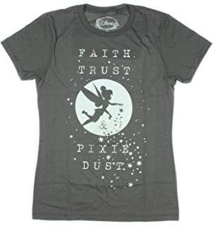a50b0621ced140 Disney Peter Pan Tinkerbell Faith Trust and Pixie Dust Juniors T-Shirt