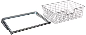 Rubbermaid FG3J0501TITNM Configurations Sliding Basket - Titanium (Renewed)