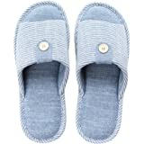 mianshe Knitted Cotton Casual House Slippers Non-Slip Indoor Sandals Unisex Open Toe Soft Breathable