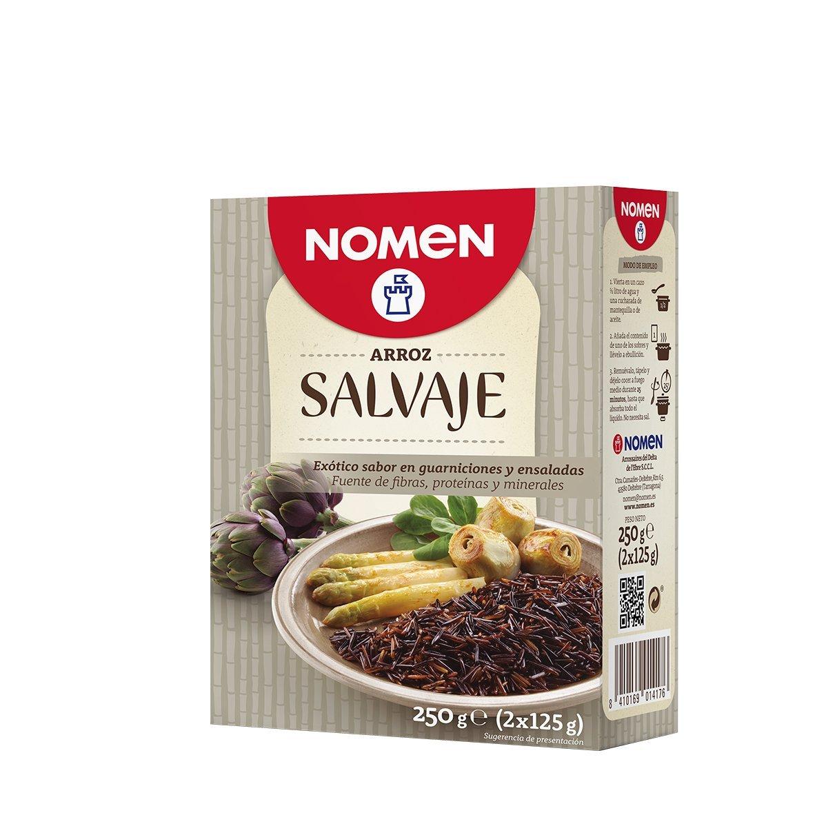 Nomen - Arroz Salvaje 250 g x 14 (3500 g total): Amazon.es: Alimentación y bebidas
