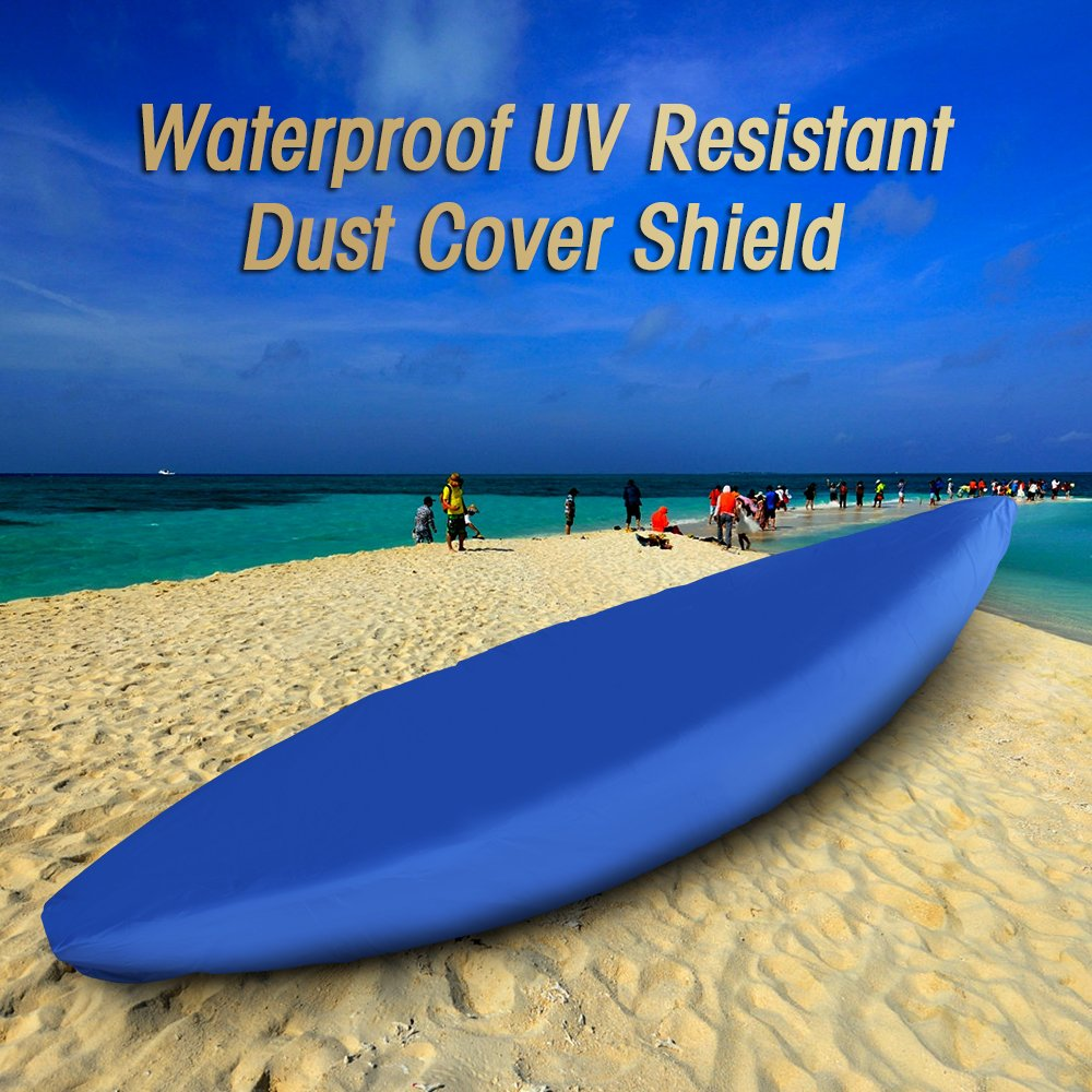 6.8-8.2ft for Kayak Length 2.1-2.5m Professional Universal Waterproof UV Resistant Dust Storage Canoe Boat Cover Shield Explopur Blue Kayak Cover