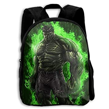 Amazon.com: Mochila escolar Hulk In Fire Casual de tela ...