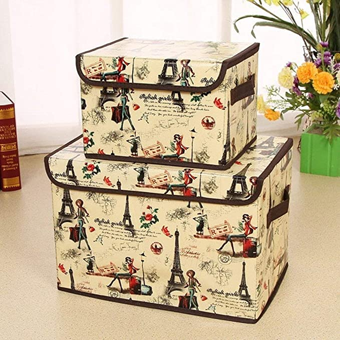 Caja de almacenaje para juguetes, organizador de ropa de la firma HAKACC.: Amazon.es: Hogar