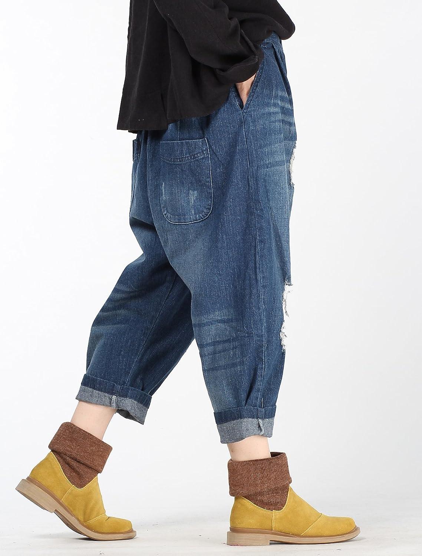 Vogstyle Damen Neue Zerrissene Jeans Mode Mode Mode Collapse Haremshosen B01M756MWS Hosen Überlegen de4ec2
