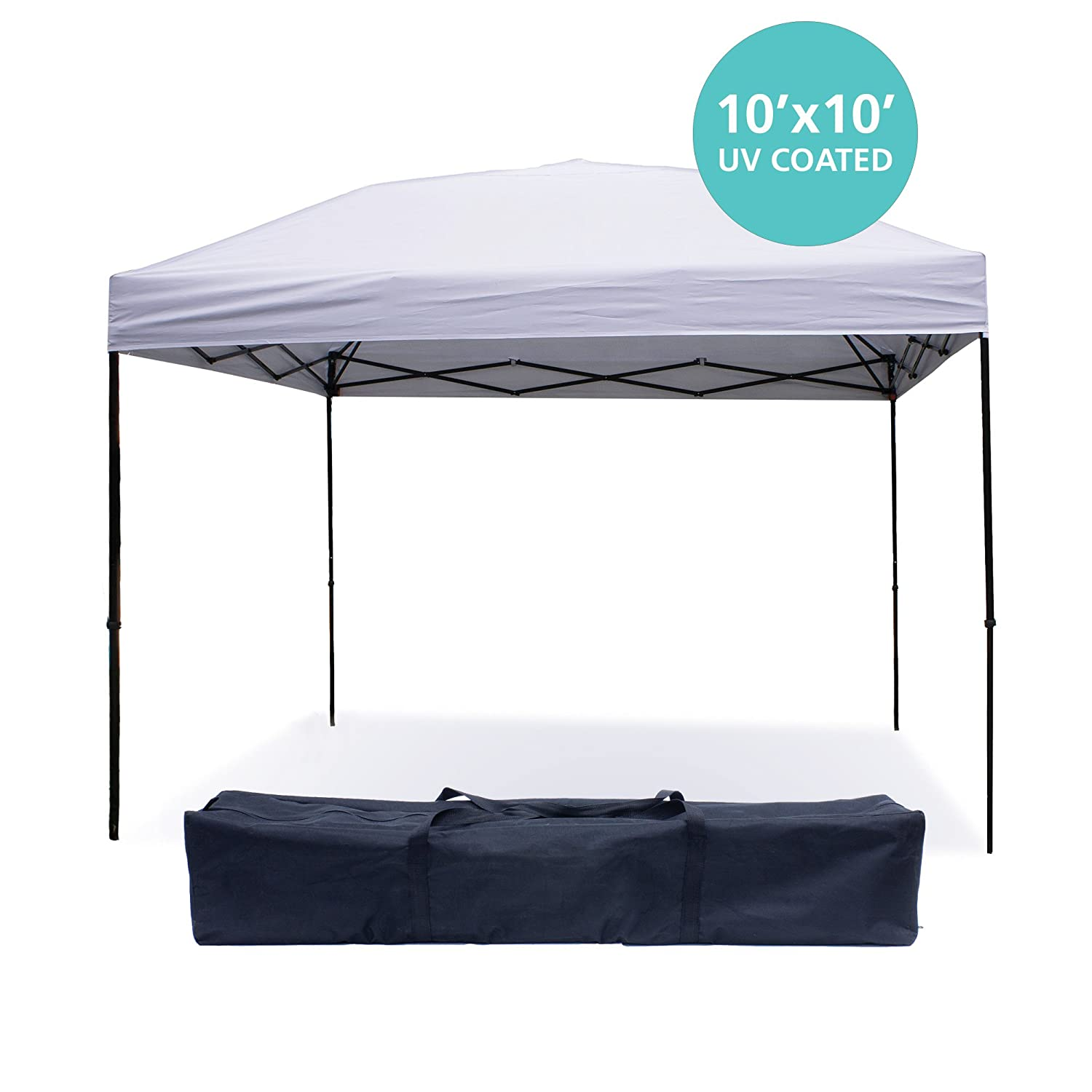Amazon.com  Pop Up Canopy Tent 10 x 10 Feet White - UV Coated Waterproof Outdoor Party Gazebo Tent ...  Garden u0026 Outdoor  sc 1 st  Amazon.com & Amazon.com : Pop Up Canopy Tent 10 x 10 Feet White - UV Coated ...