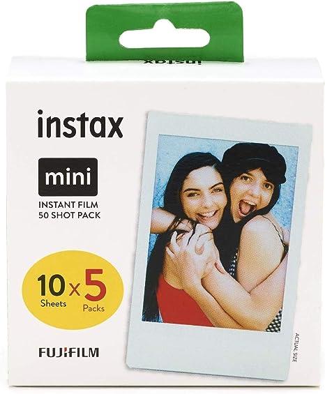 Fujifilm Instax mini película, Pack of 5 x 10 hojas (el embalaje puede variar): Amazon.es: Electrónica
