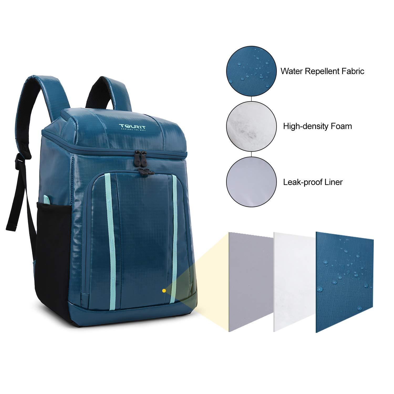 Blue TOURIT Ghiaccio Sintetico 840g Riutilizzabili 4pcs per Zaino Termico Frigo,Conservazione degli Alimenti Raffreddatore Portatile