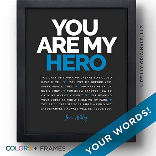 Personalized Gift My Hero Birthday Marine EMT Police Fire Man Reasons Youre Loved Things Friend Father Grandfather Husband Boyfriend Fiance Soldier Veteran
