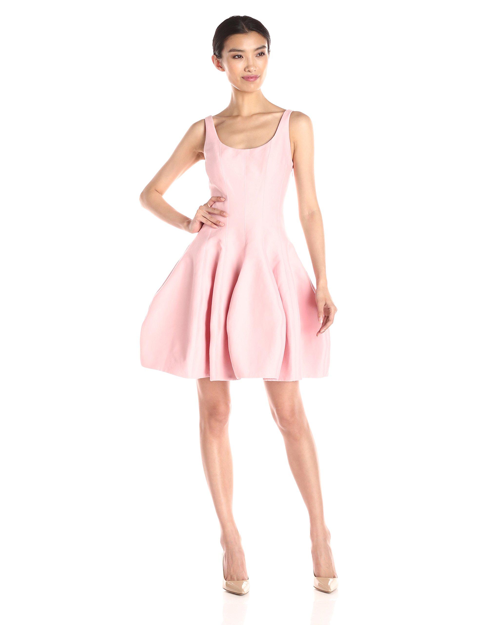 HALSTON HERITAGE Women's Sleeveless Dress with Structured Tulip Skirt, Lotus, 2