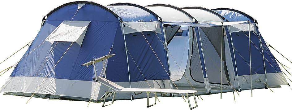 skandika Montana - 8 Personas - Tienda campaña Familiar - túnel - 700x310 cm - mosquiteras (Azul): Amazon.es: Deportes y aire libre