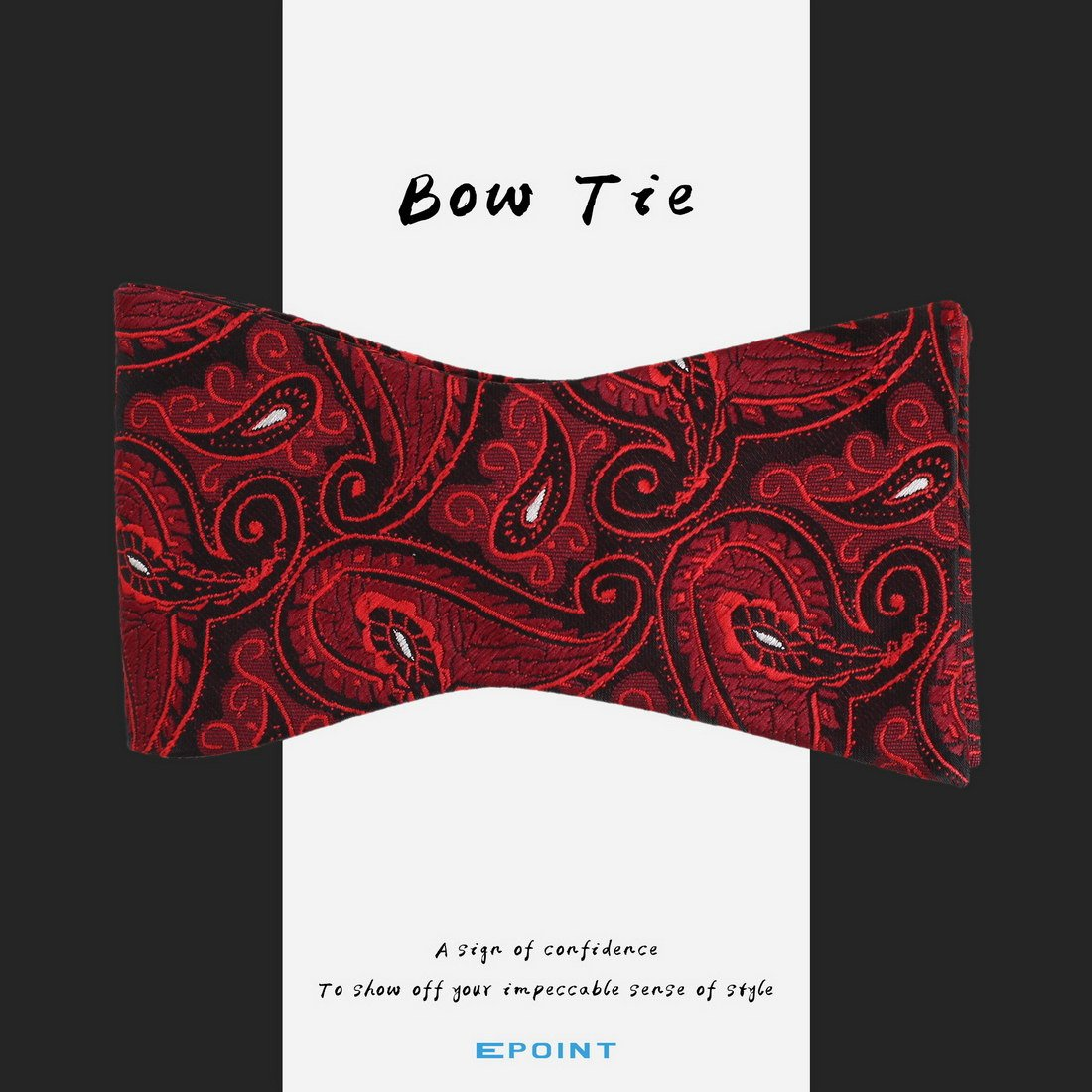EBA1B03A Economics Excellent Fabric Microfiber Silver Patterned Self Bowtie Luxury Anniversary Presents for Lawyers By Epoint