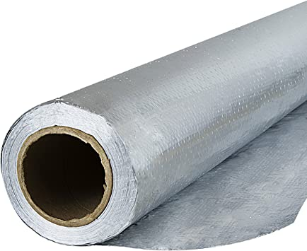 4ft x 250ft US Energy Radiant Barrier Insulation Aluminum Foil Roll 1000 SQFT Reflective Insulation Solar Attic Radiant Heat Foil Barriers For Attic, House Wraps, Commercial Tear Proof