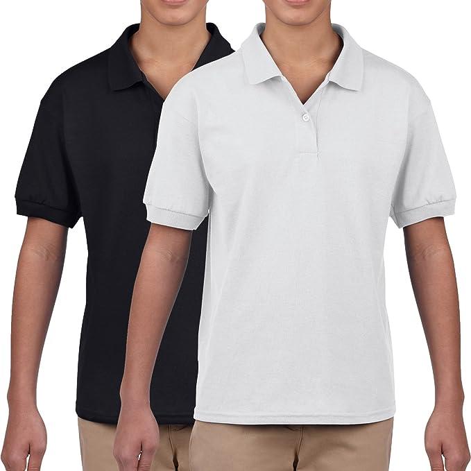 SchoolDays - Polo - para niño blanco En Blanco Y Negro Small ...