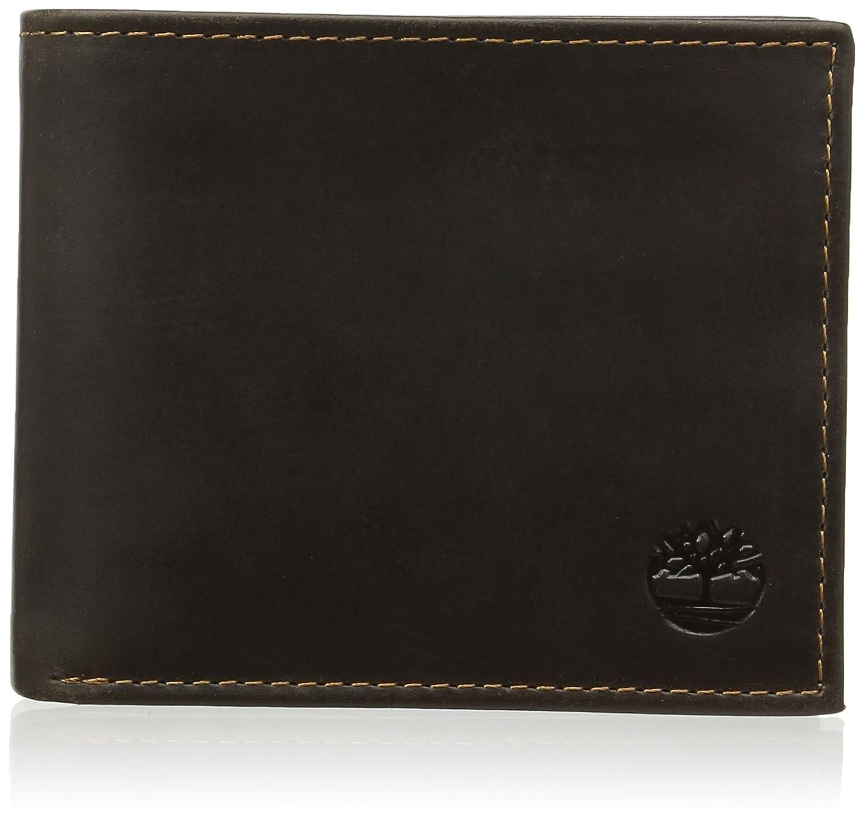 Timberland - Passcase With Coin Pocket, Portamonete Uomo Braun (Dark Brown) 1.5x12.75x9.4 cm (B x H T) CA1DK8