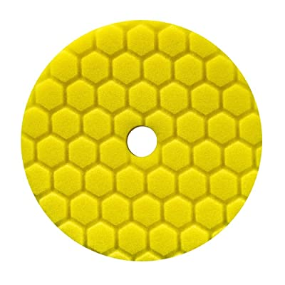 Chemical Guys BUFX111HEX6 Hex-Logic Quantum Heavy Cutting Pad, Yellow (6.5 Inch Pad made for 6 Inch backing plates): Automotive