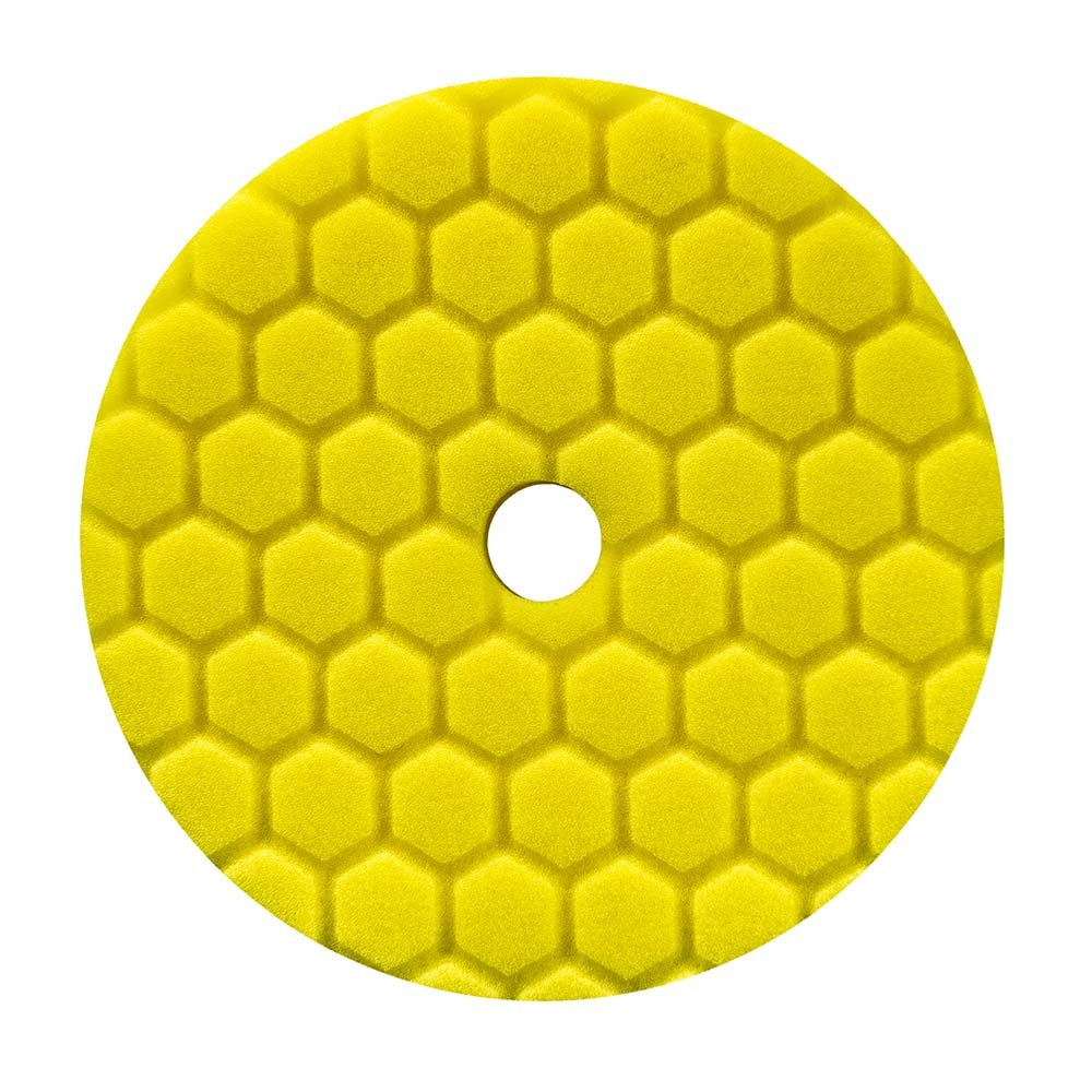 Chemical Guys Hex Logic Quantum 140mm 5.5' Yellow Heavy Cutting Pad ~ Polish Car BUFX111HEX5