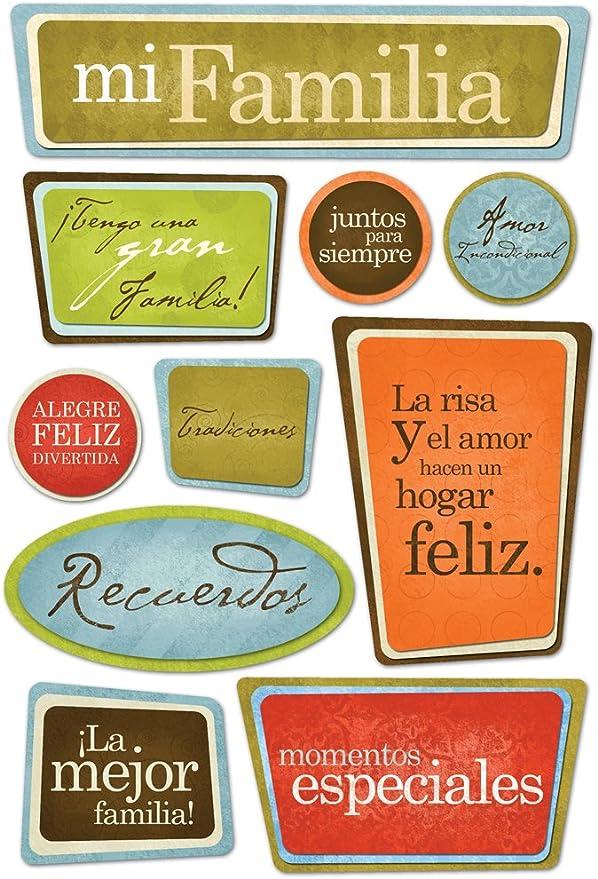 KAREN FOSTER Design Acid and Lignin Free Scrapbooking Sticker Sheet, Spanish Family