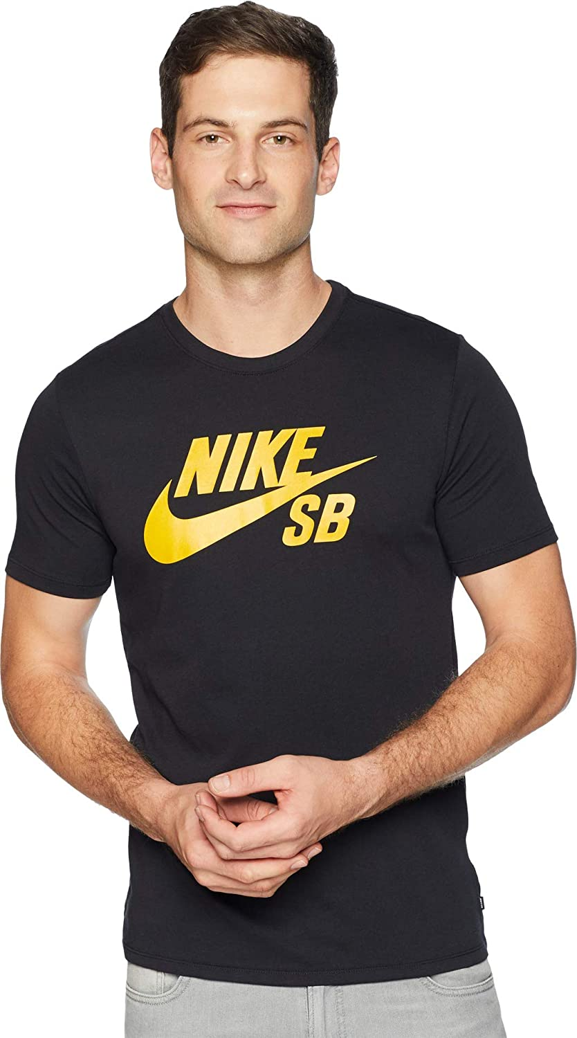 69de7851 Nike Men's SB Logo Dri-Fit T-Shirt, Black, X-Large: Amazon.co.uk: Clothing