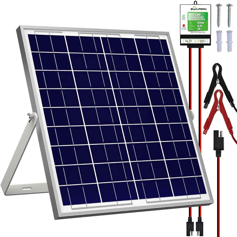 SOLPERK 20W Solar Panel Kit Charger 12V