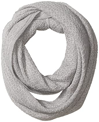 1949088265be7 Calvin Klein Women's Texture Infinity Scarf, Heather Mid Grey, One Size at  Amazon Women's Clothing store: