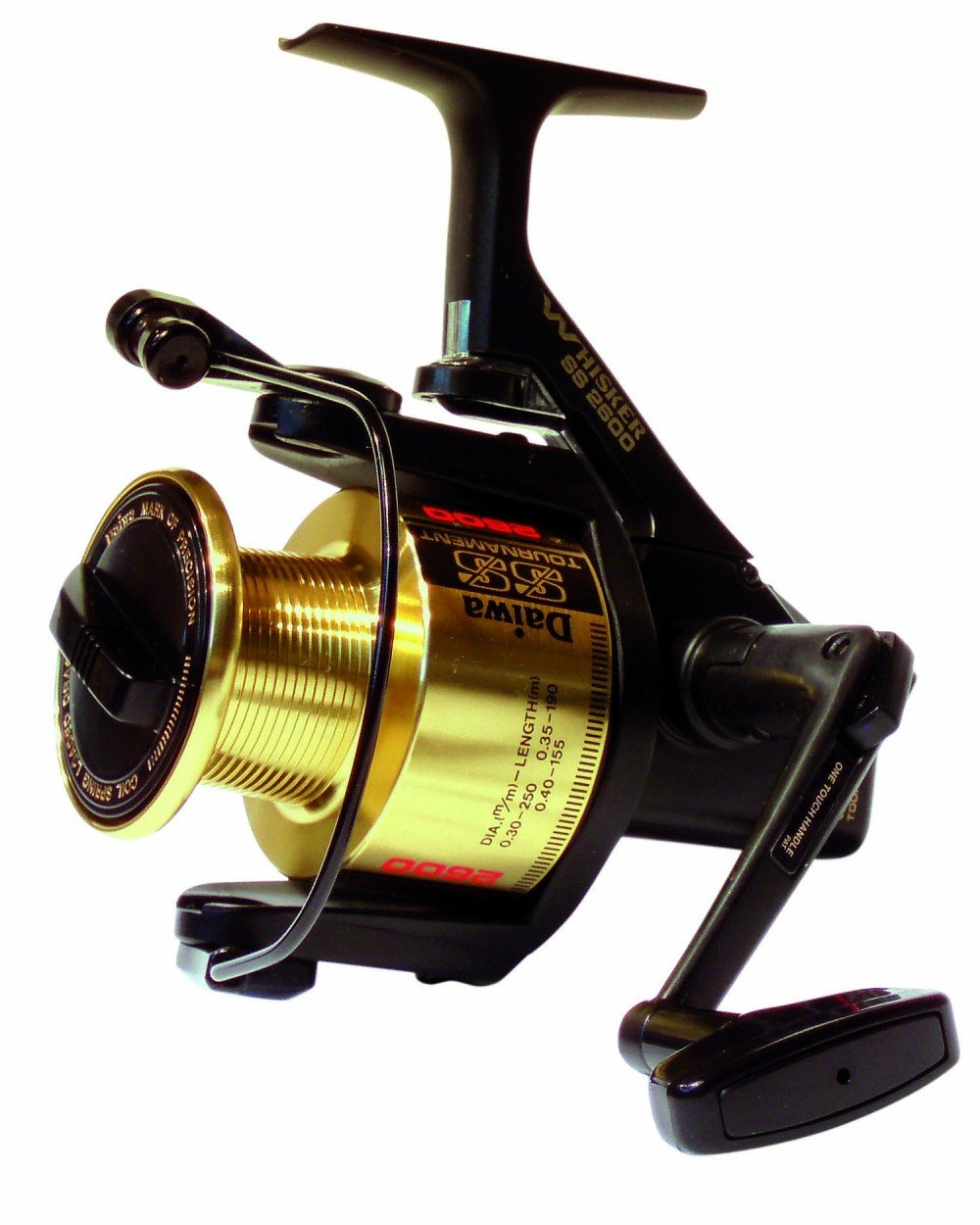 Daiwa SS Tournament 4.6:1 Left/Right Hand Long Cast Spinning Fishing Reel - Whisker SS2600 by Daiwa