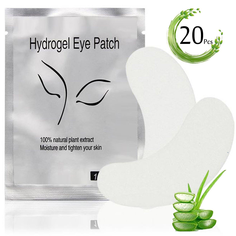 Galaxy beauty Eye gel Pads 20paia di ciglia Pad gel patch liscio laterale lato anteriore e posteriore collagene singoli ciglia estensione ATA