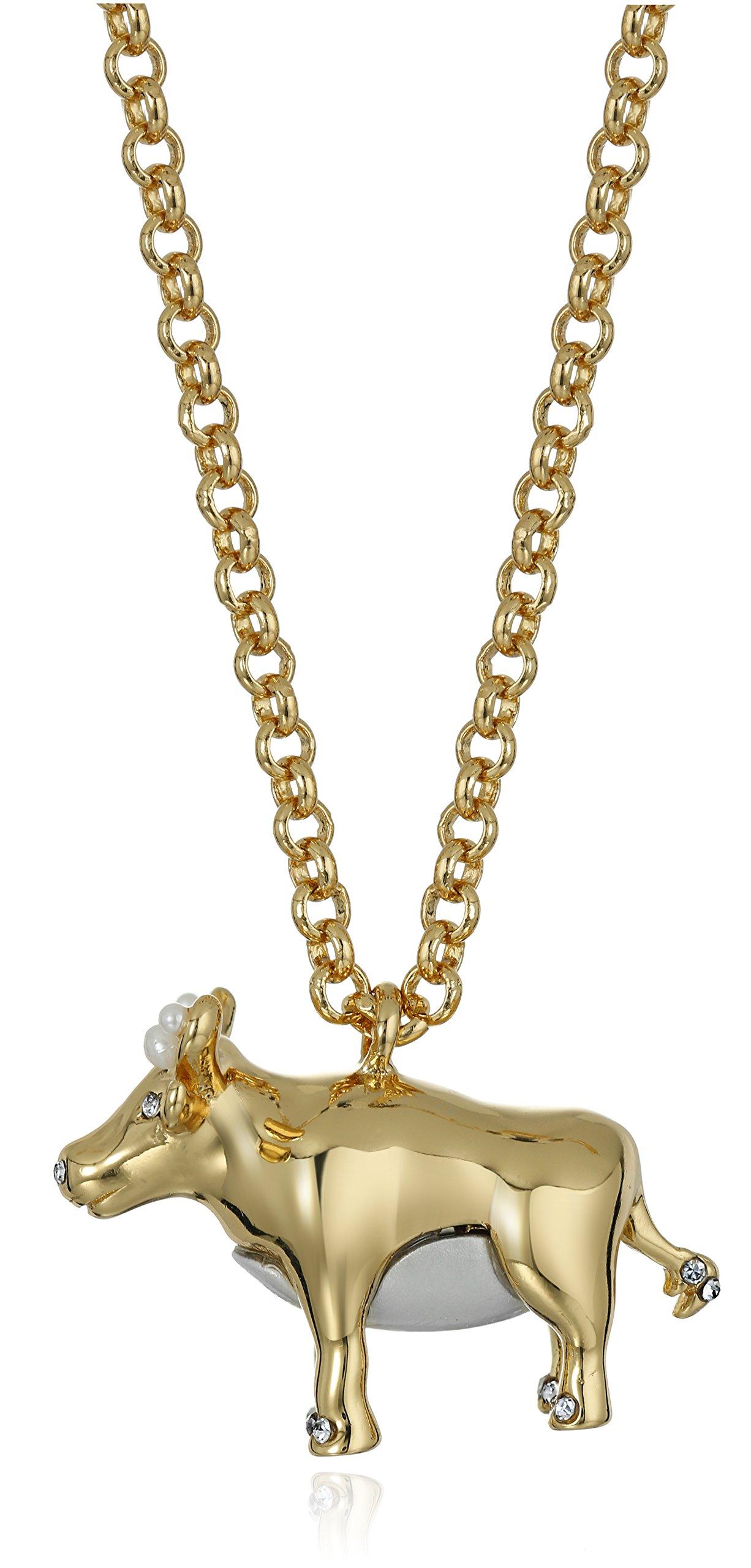 Kate Spade New York Spirit Animals Ox Pendant Necklace