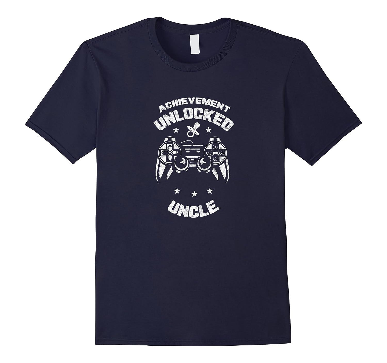 Achievement Unlocked Uncle - Gamer Pregnancy T-Shirt-TH