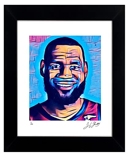 2c141a958fd LeBron James Framed Wall Art Autographed NBA Collectible by TGTHURKETTLE. LeBron  James 1 100