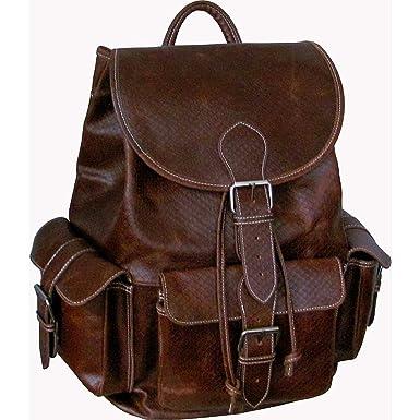 Amazon.com | AmeriLeather Vacationer Jumbo Leather Backpack (Brown ...