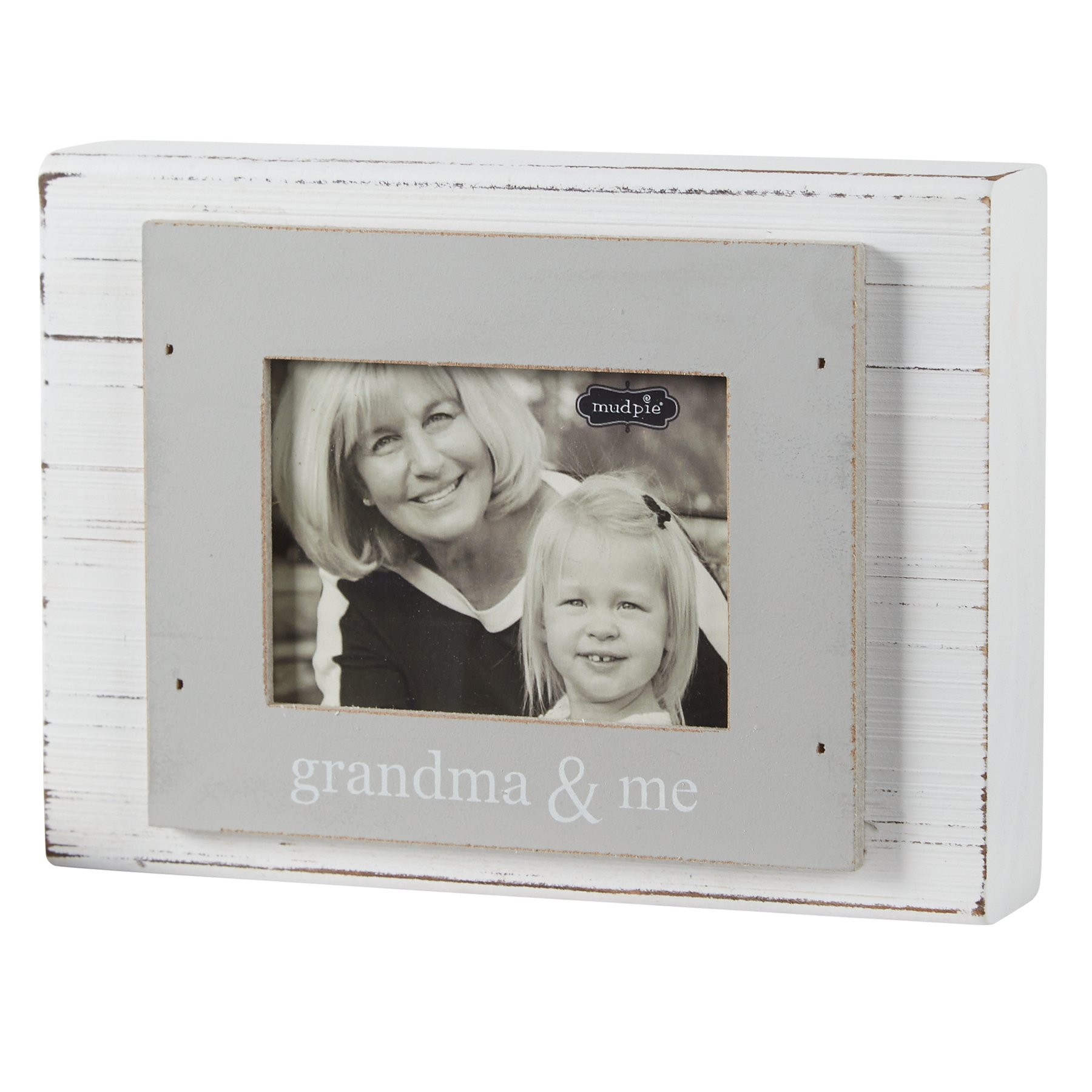 Amazon Com Mud Pie To The Moon Planked Photo Frame 4 Quot X