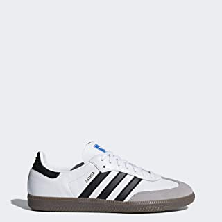 adidas Originals Men's Samba OG Sneaker White/Black/Granite 12