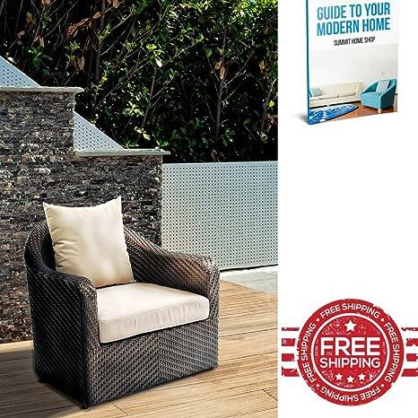 Mimbre sillón reclinable ergonómico silla de jardín de salón ...