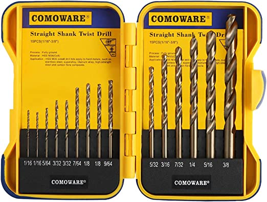 """1pcs 8mm 0.315/"""" HSS-Co M35 Straight Shank Twist Drill Bits For Stainless Steel"""