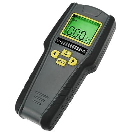 4 en 1 sin pin medidor de humedad, LCD digital con tricolor Gráfico de barras