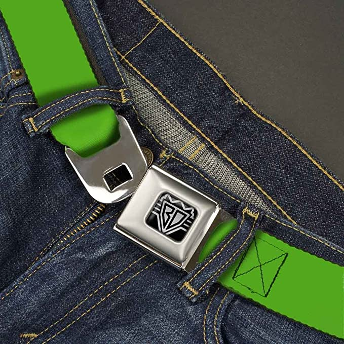 1.5 Wide-24-38 Inches Buckle-Down Unisex-Adults Seatbelt Belt Green Regular Solid Rainforest