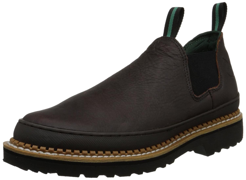 Georgia Giant Mens Romeo Slip On Work Shoe Shoes D Island Driving Comfort Leather Black