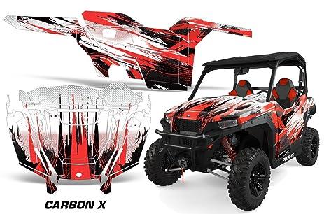Amrracing polaris general 2016 full custom utv graphics decal kit carbon x red