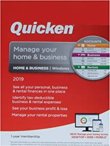 Quicken Home & Business 2019 1-year membership