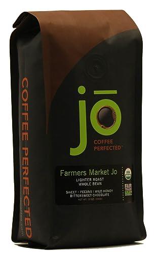 FARMERS-MARKET-JO:-12-oz,-Light-Medium-Roast,-Whole-Bean-Arabica-Coffee