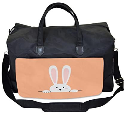 873f92b25475 Amazon.com: Lunarable Rabbit Gym Bag, Easter Bunny in Hole Cartoon ...