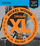 D'Addario EXL110-7 XL Nickel Wound Regular Light  (.010-.059) 7-String Electric Guitar Strings
