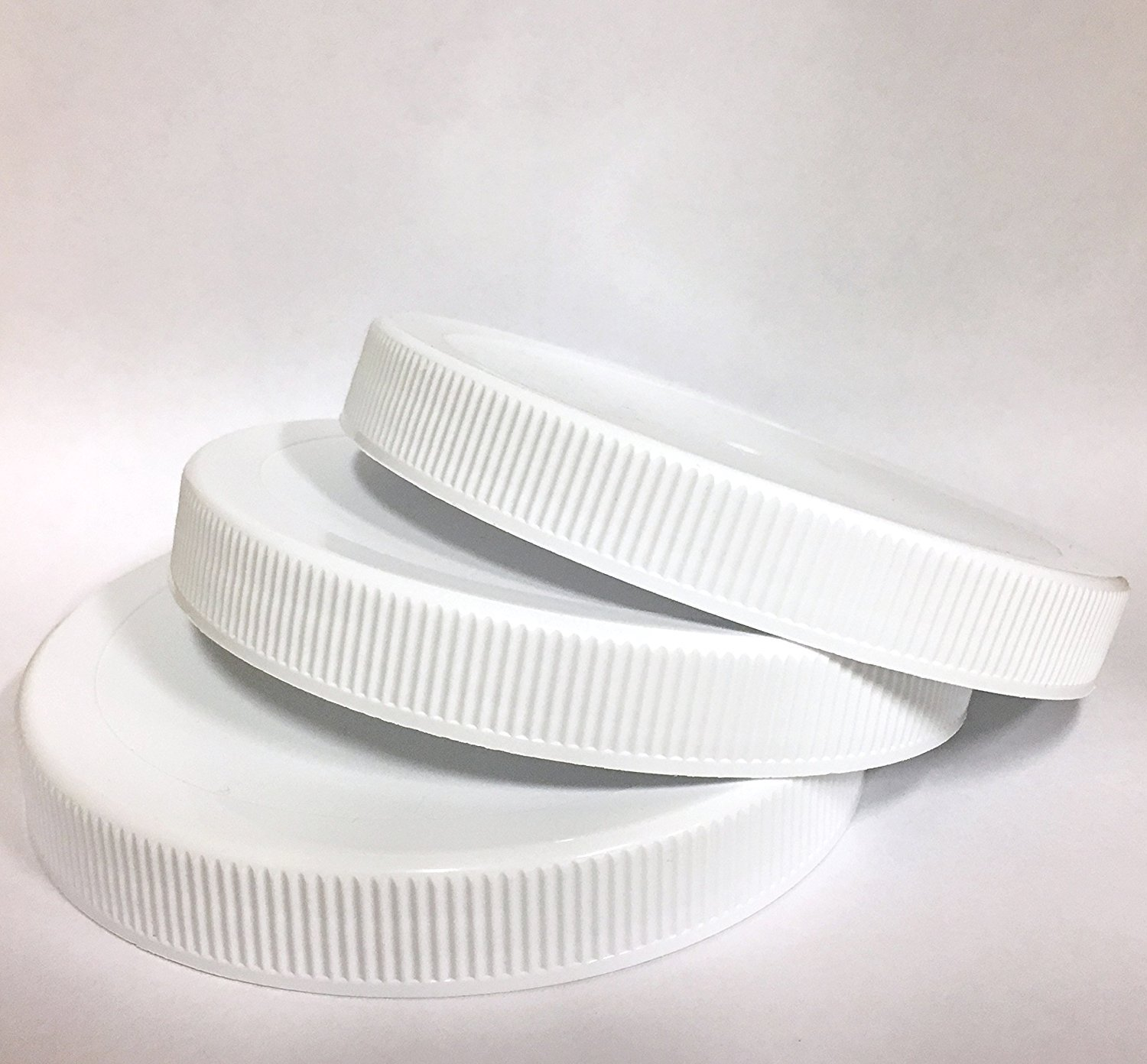 1 Gallon Fermentation Jar Replacement White Polypropylene Caps 110/400 (3, White Poly) HANNIBALS DINER 4.25