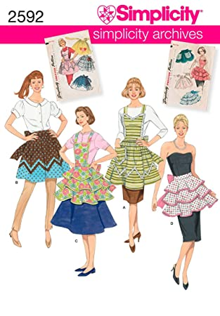 Amazon Simplicity Sewing Pattern 40 Aprons A SML Arts New Simplicity Apron Patterns