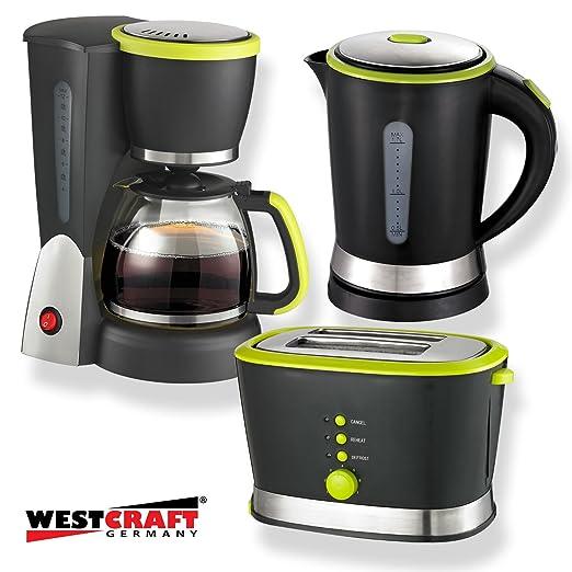 3 piezas West Craft Diseño Juego de desayuno Cafetera y tostadora ...