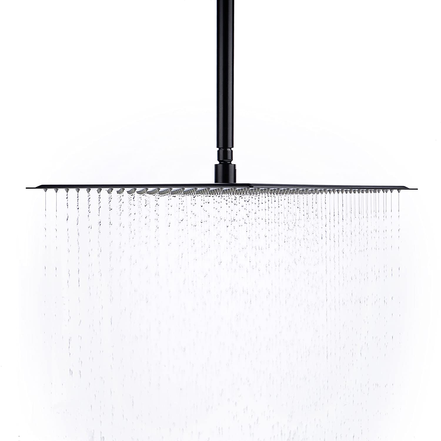AHiendure 16 Inch Rainfall Square Stainless Steel Shower Head