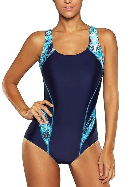 komplettes Angebot an Artikeln 100% original größter Rabatt Anwell Einteilig Sport Schwimmanzug für Damen Badeanzug Push Up  figurformend Bauchweg